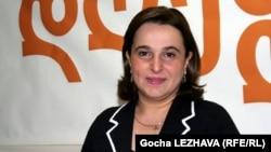 Манана Кобахидзе, председатель коалиции «Грузинская мечта». Тбилиси, 24 апреля 2012 года.