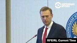 Alexei Navalnîi vorbind la Comitetul Electoral Central la 25 decembrie 2017