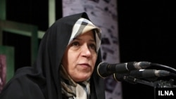 Iran -- Reformist figure Faezeh Hashemi in a meeting in Tehran university on Monday December 07, 2015.