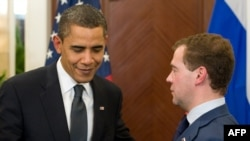 U.S. President Barack Obama and Russian President Dmitry Medvedev