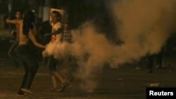 Участник акций протеста в Каире