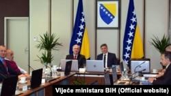 Sjednica Vijeća ministara, Sarajevo, februar 2018.