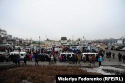 Приморцы протестуют против обязательной установки системы ЭРА-ГЛОНАСС. 19 февраля 2017 года.