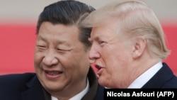 Президент США Дональд Трамп и председатель КНР Си Цзиньпин, ноябрь 2017 года.