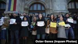 Protestul magistraților după adoptarea Ordonanței de urgență 7/2019
