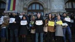 Protest al magistraților față de modificarea legilor justiției, 22 februarie 2019, București