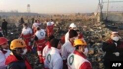Իրան - Որոնողա-փրկարարական աշխատանքները օդանավի կործանման վայրում, 8-ը հունվարի, 2020թ.