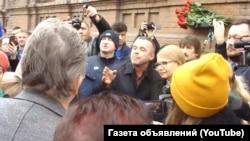 Юлия Тимошенко под зданием СБУ в Славянске Донецкой области, 18 марта 2019 года