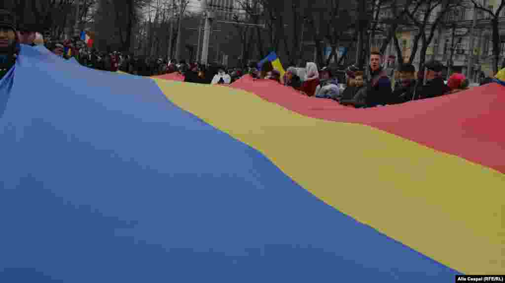 Moldova, pro unionist march in Chisinau