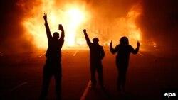 Погромы в Фергюсоне. 25 ноября 2014 года.