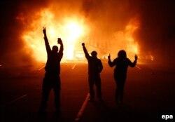 Протесты в Фергюсоне, штат Миссури. Ноябрь 2014 года
