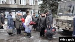 Эвакуация жителей Дебальцево