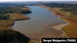 Водохранилище в Крыму, архивное фото