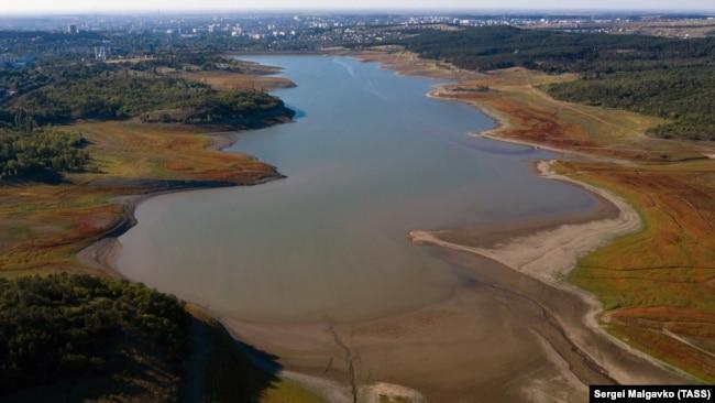 Симферопольское водохранилище, август 2020 года