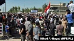 تركمان يتظاهرون في تازة بكركوك
