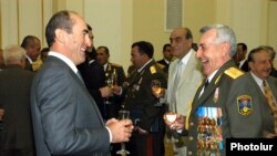 Armenia -- An archive photo of former President Robert Kocharian and Former Defense Minister Mikael Harutiunian, undated