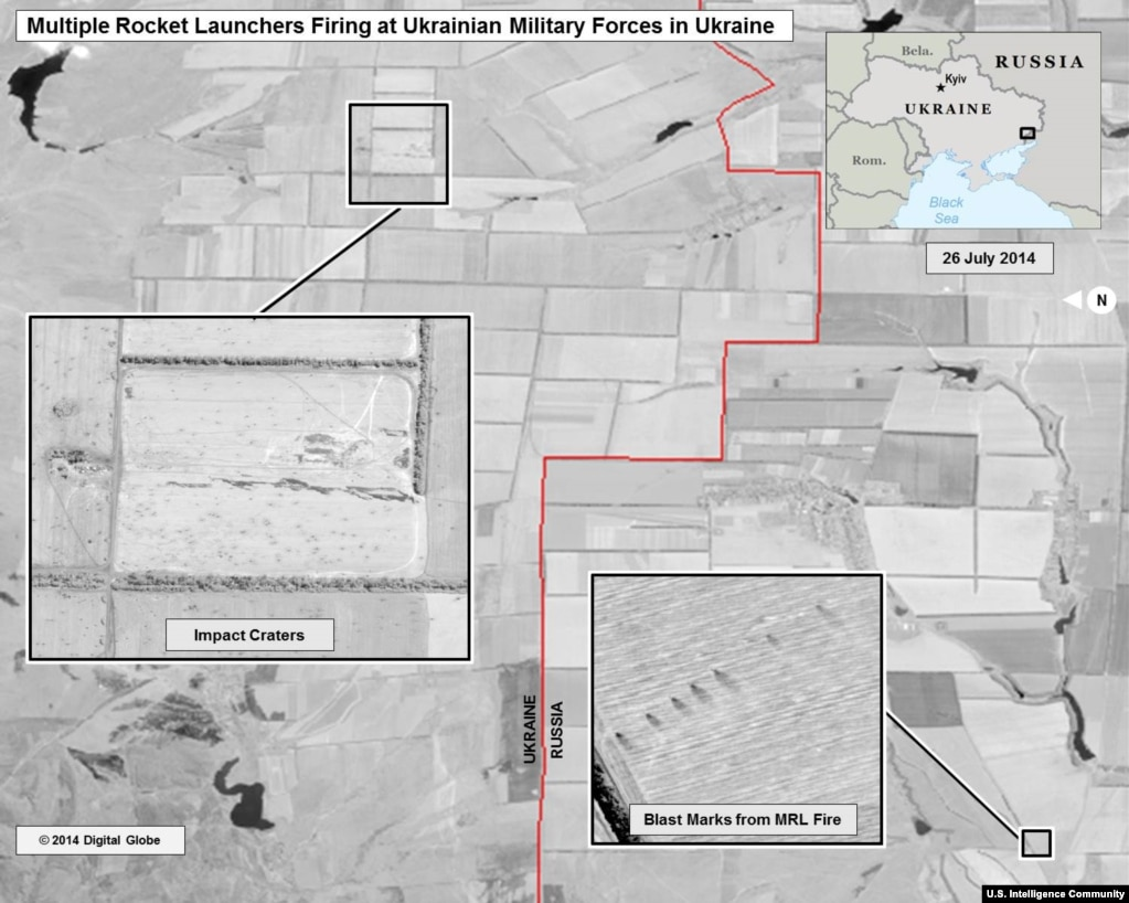 Multiple Rocket Launcher Strikes Within Ukraine July 25 26 From The U S Director