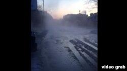 Затопленная в Благовещенске улица