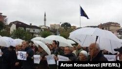 Foto nga marshi paqësor në Prishtinë