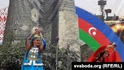 Наазэрбайджанскім падворку ўчас Рэспубліканскага фэсту нацыянальных культур уГорадні ў2018годзе