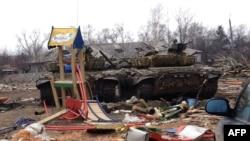 Место боевых действий в Донбассе