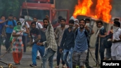 Массовые беспорядки в Индии. 25 августа 2017 года.