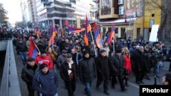 Armenia - The New Armenia Public Salvation Front holds an anti-government demonstration in Yerevan, 7Dec2015.