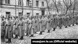 Перша сотня полку Січових стрільців у Києві, початок 1918 року