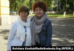 Зліва направо: мати В'ячеслава Галви, Олена, та удова Антона Кіреєва, Юлія