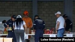 Гуманитарные грузы на одном из пограничных переходов между Венесуэлой и Колумбией, 8 февраля 2019
