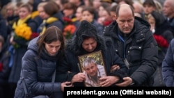 Farewell ceremony for the Ukrainian victims of PS572 plane crash, Boryspil, 19Jan2020