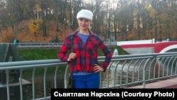 Гомельская актывістка Сьвятлана Нарскіна, архіўнае фота