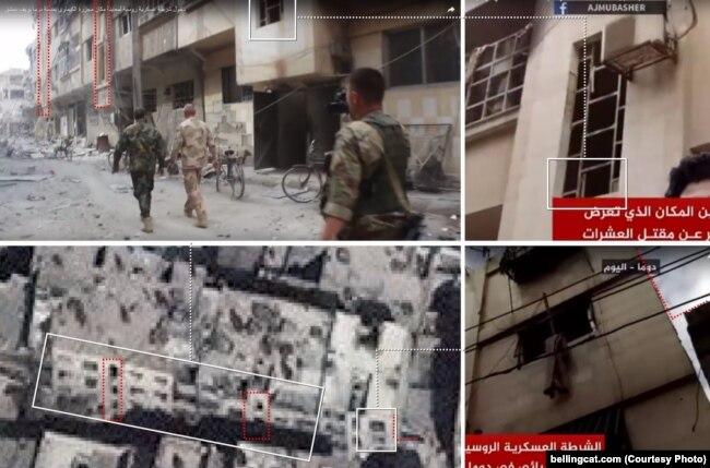 Геолокация дома, около которого были сняты на видео представители российского Центра по примирению враждующих сторон
