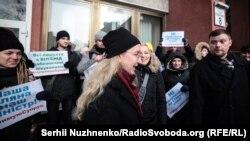 Акція на підтримку Уляни Супрун під стінами Окружного адмінсуду Києва, 15 лютого 2019 року