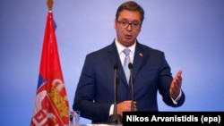 "Serbian President Aleksandar Vucic said that the decision was based on ""sufficient evidence of highly offensive intelligence activities against certain bodies and institutions of Serbia."""