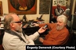 Игорь Померанцев и Борис Херсонский. Фото Е.Деменка