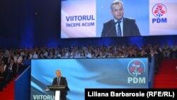 Vladimir Plahotniuc, la congresul PD în rol de prim-dirijor