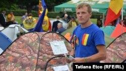 Палаточный городок оппозиции в Кишиневе