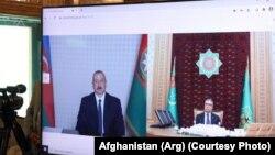 عکسی آرشیوی از نشست مجازی رهبران ترکمنستان و آذربایجان