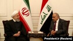 Премьер-министра Ирака Абдель Абдул Мехди (справа) встречается с президентом Ирана Хасаном Рухани в Багдаде 11 сентября 2019 года