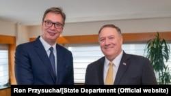 Vučić i Pompeo u Njujorku, avgust 2019