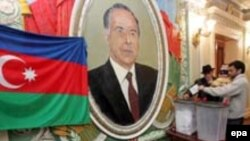 Yeni Azerbaijan Party was established in 1992 by the late President Heydar Aliyev, whose portraits remain prevalent under the administration of his son, Ilham.