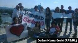 Podrška sarajjevskim protestima iz Beograda