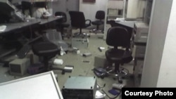 Imedi-TV's studios were left in a shambles after a police raid in November 2007.