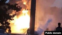 Пожар в одном из объектов в Ташкенте. Иллюстративное фото.