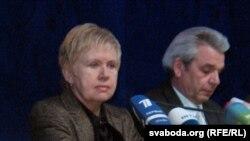 Лідзія Ярмошына і Мікалай Лазавік