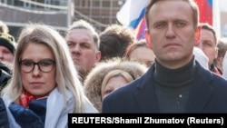 Lyubov Sobol (left) is a lawyer and ally of Russian President Vladimir Putin's most prominent foe, Aleksei Navalny (right).