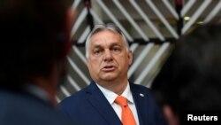 Orbán Viktor Brüsszelben 2021. június 24-én.
