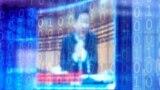 Si Đinping, predsednik Kine, pogled kroz digitalno dekorisano staklo tokom Svetske internet konferencije i kineskom gradu Vuzenu, 23. novembra 2020.