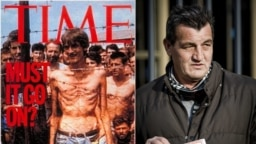 Fikret Alic became a lasting symbol of Balkan atrocities after his skeletal frame was shown behind barbed wire at the Trnopolje internment camp near Prijedor, in what is now northwest Bosnia.